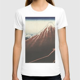 Rainstorm at the foot of the mountain - Katsushika Hokusai (1829-1833) T-shirt