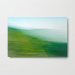 Mountains and Sea Metal Print