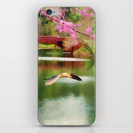 Flight of the Egret iPhone Skin