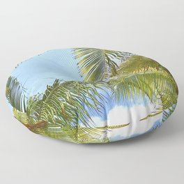Tropic Breezes Floor Pillow