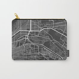El Paso Map, USA - Gray Carry-All Pouch