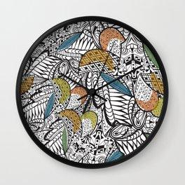 Triangle and rhombus ornament pattern Wall Clock