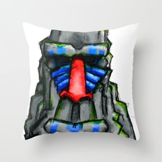 All hail the great Monkey Rock! Throw Pillow