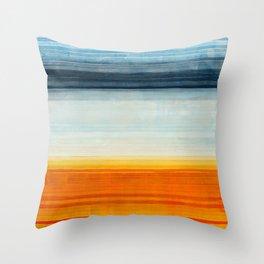 Yellowstone Orange Throw Pillow