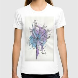 Explosion Flower Blue and Purple T-shirt
