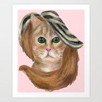 lana del rey Art Prints featuring Felina Del Rey by Cattic Fanatic