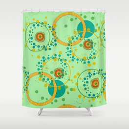 Concentric Green Shower Curtain
