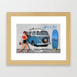 Back to the 60s Framed Art Print