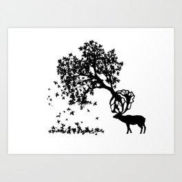 Elk-Naturalle Art Print