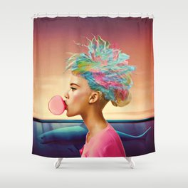 Shark and gum Shower Curtain