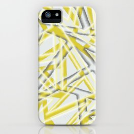 MCM Mangled Angles (Yellow) iPhone Case