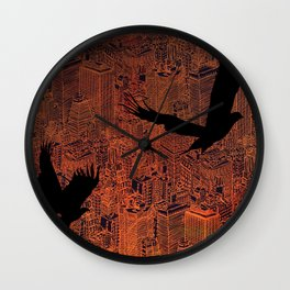 Ecotone (night) Wall Clock