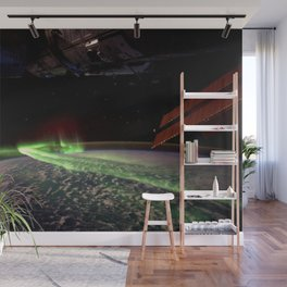 Northern Lights from Space Station over Earth Wall Mural