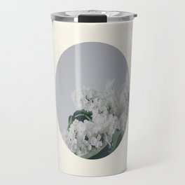 Comforting White Flowers Travel Mug