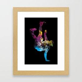 hip hop galaxy Framed Art Print