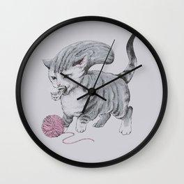 Kittehmorph Wall Clock