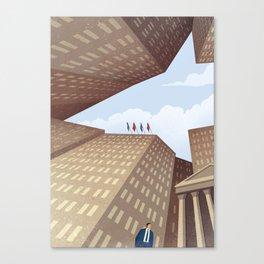 The Shark of Wall Street Canvas Print