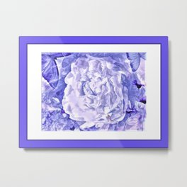 The Gathering Of The Peonies And Butterflies Metal Print
