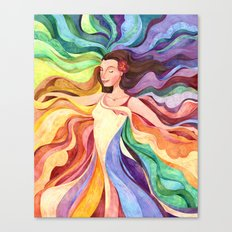 Rainbow Dancer Canvas Print