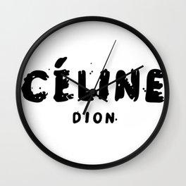 Celinee Dion Wall Clock