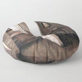 The Four Rooms by Vilhelm Hammershøi - Norwegian Fine Art - Hammershoi Floor Pillow