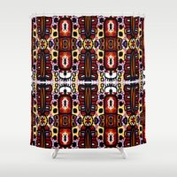bug Shower Curtains featuring Bug Pattern by k_c_s