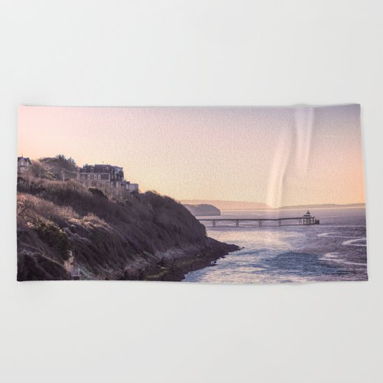 Clevedon Sea front Beach Towel