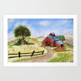 The Red Shed Art Print