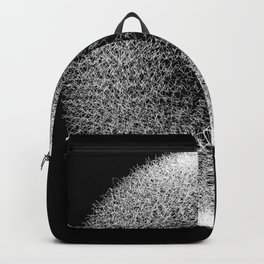 Abstract scribble circle banner. Backpack