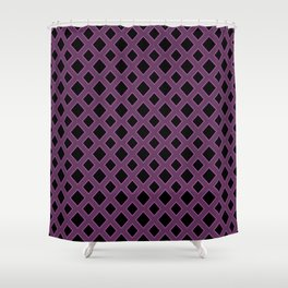 Purple Diamond Pattern Shower Curtain