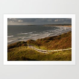 Rhossili bay south Wales Art Print