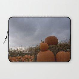 Pumpkins on the stormy sky Laptop Sleeve