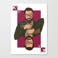 Walter white King of spades Canvas Print