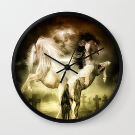 Midnight Stallion Wall Clock