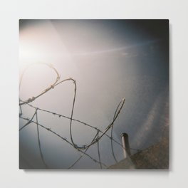 Razor Wire Metal Print