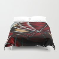 spider man Duvet Covers featuring Spider-Man by Inspirations