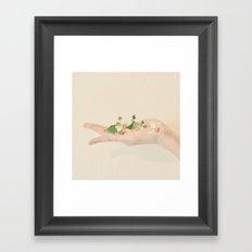Flower in Hand Framed Art Print