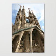 Work in Progress (La Sagrada Familia) Canvas Print