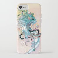 spirit iPhone & iPod Cases featuring Journeying Spirit (ermine) by Mat Miller