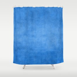 """Exotic Moroccan Indigo Blue Burlap Texture"" Shower Curtain"
