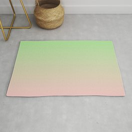 PARADISE MIST green & pink colors ombre pattern  Rug