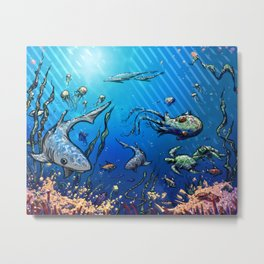 Unda da Sea Metal Print
