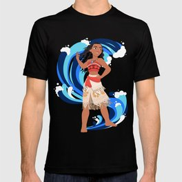 Moana and the Ocean's Waves T-shirt