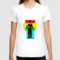 chaplin T-shirts featuring Charlie Chaplin by Silvio Ledbetter