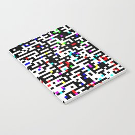 Abstract 8 Bit Pattern Notebook