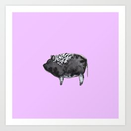BUGSY in purple Art Print