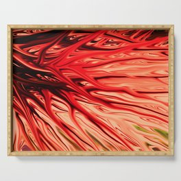 Strawberry Firethorn by Chris Sparks Serving Tray