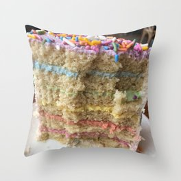 Over the Rainbow Pride Cake Throw Pillow