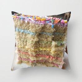 Over the Rainbow Pride Cake Throw Pillow