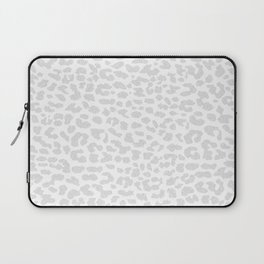 Pale Gray Leopard Laptop Sleeve